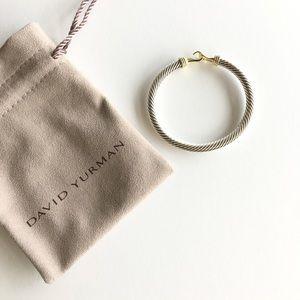 David Yurman Classic Buckle Bracelet 14K Gold 5mm